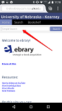 Ebrary search screen